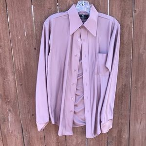 Mauve pink van Heusen silk button up shirt